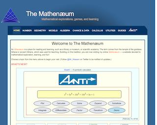Screenshot of The Mathenæum