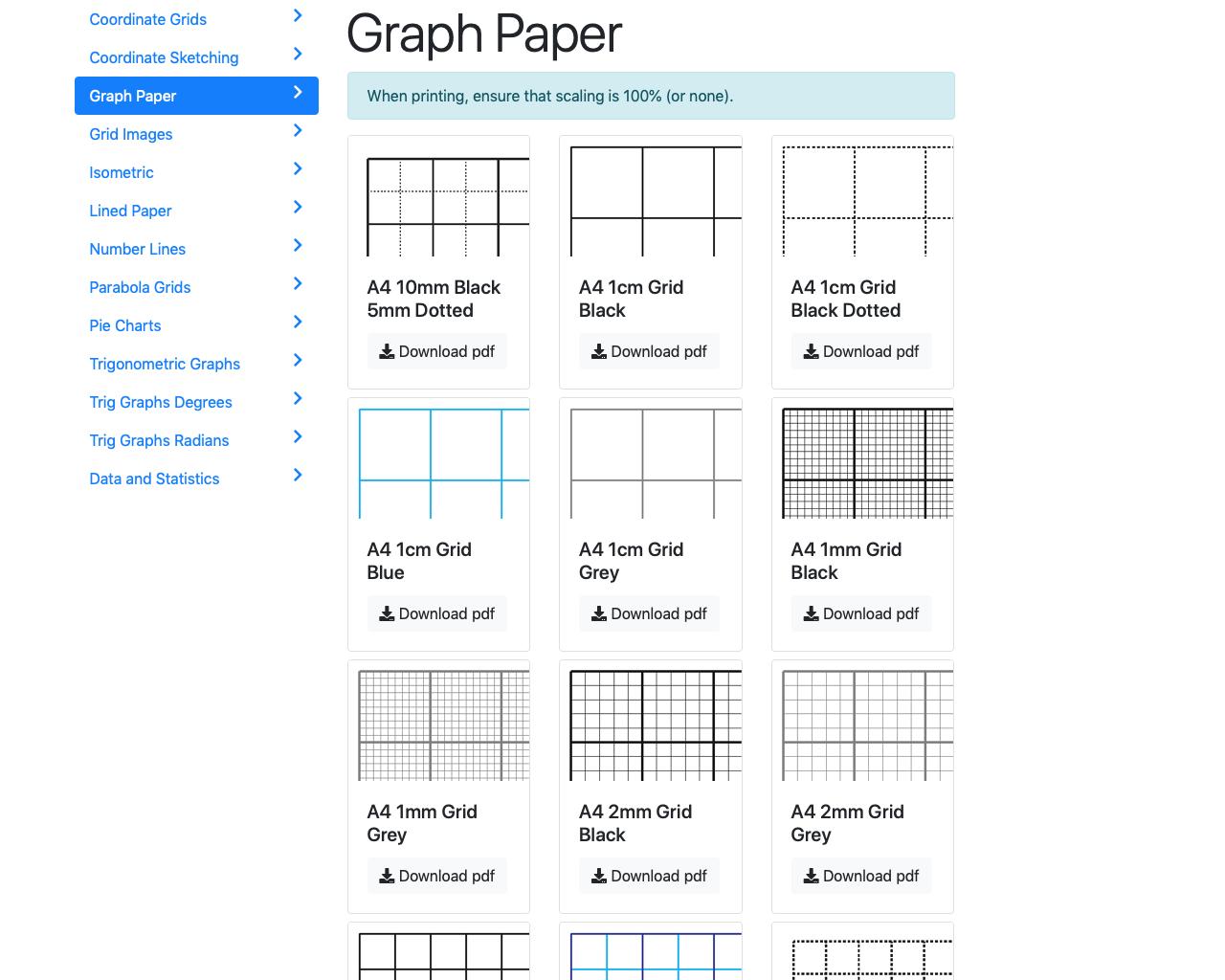 Screenshot of More printables...