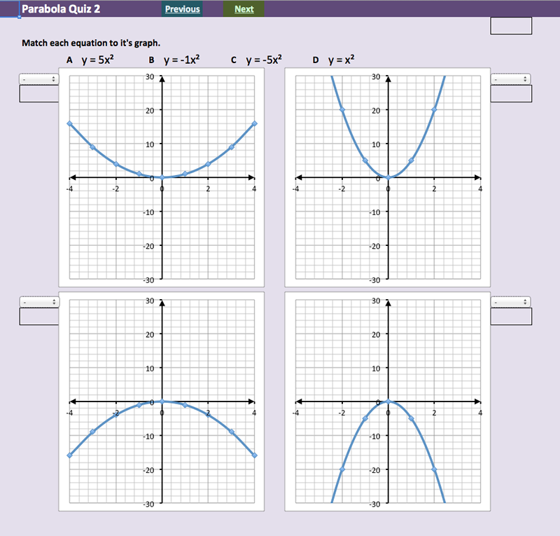 investigating quadratic functions parabolas mathsfaculty. Black Bedroom Furniture Sets. Home Design Ideas