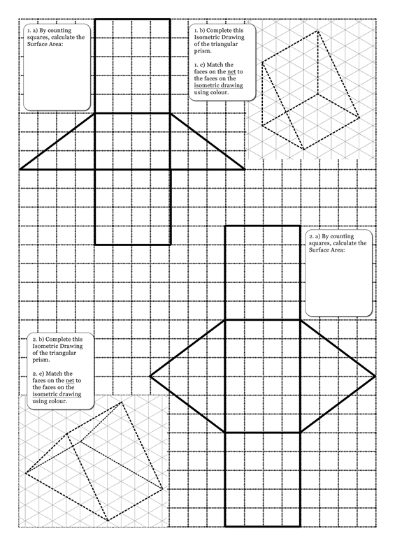 Surface Area of Triangular Prisms - MathsFaculty